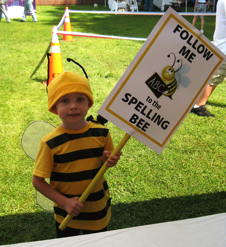 Follow me to the Matthews Market Days Spelling Bee!